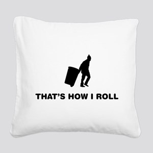 Waste Collector Square Canvas Pillow