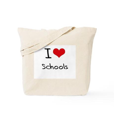 I Love Schools Tote Bag