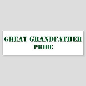 Great Grandfather Pride Bumper Sticker