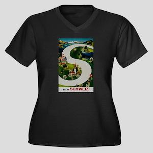 Vintage Switzerland Travel Ad Plus Size T-Shirt