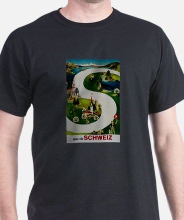 Vintage Switzerland Travel Ad T-Shirt
