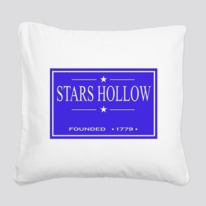 Stars Hollow 3 Square Canvas Pillow