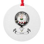 Badge - Glass Round Ornament