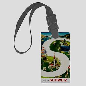 Vintage Switzerland Travel Ad Luggage Tag