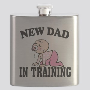 New Dad In Training (Girl) Flask