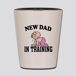 New Dad In Training (Girl) Shot Glass