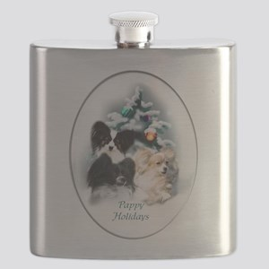 Papillon Christmas Flask