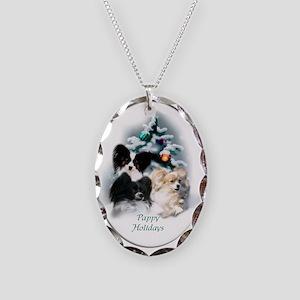 Papillon Christmas Necklace Oval Charm