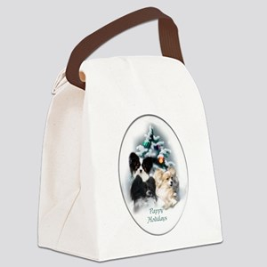 Papillon Christmas Canvas Lunch Bag