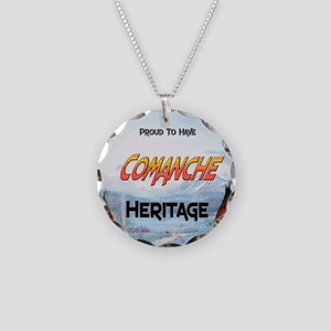 Comanche Heritage Necklace Circle Charm