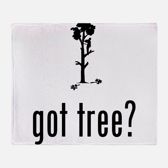 Tree Trimmer Throw Blanket