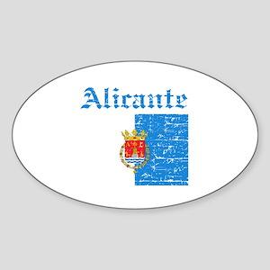 Alicante flag designs Sticker (Oval)