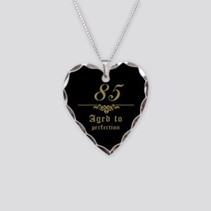 Fancy 85th Birthday Necklace Heart Charm