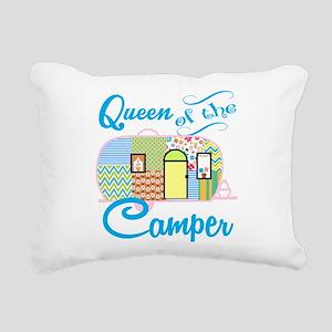 Queen of the Camper Rectangular Canvas Pillow