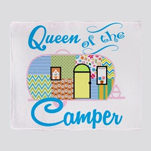 Queen Of The Camper Throw Blanket