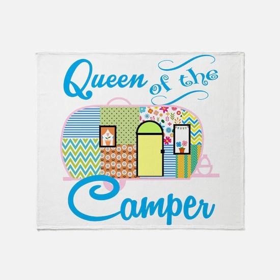Queen Of The Camper Throw Blanket