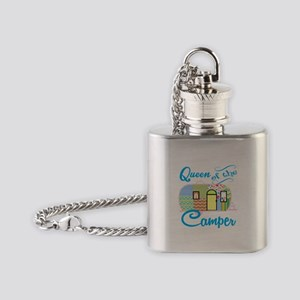 Queen of the Camper Flask Necklace