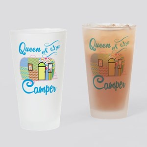 Queen of the Camper Drinking Glass