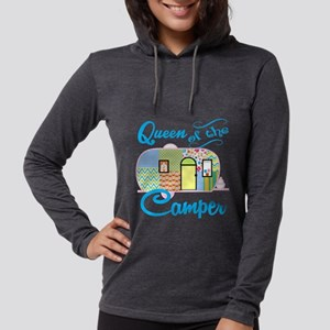 Queen of the Camper Womens Hooded Shirt
