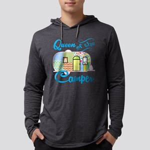 Queen of the Camper Mens Hooded Shirt