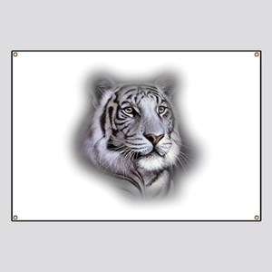 White Tiger Face Banner