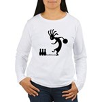 Kokopelli Bowler Women's Long Sleeve T-Shirt