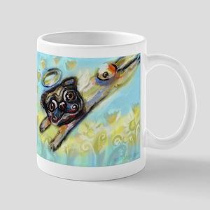 Pug Angel Flys Free Mug