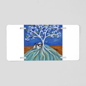 Shih Tzu spiritual love tree Aluminum License Plat