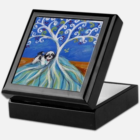 Shih Tzu spiritual love tree Keepsake Box