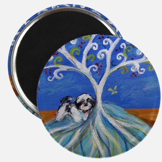 "Shih Tzu spiritual love tree 2.25"" Magnet (10 pack"