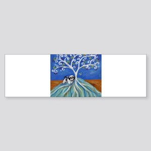 Shih Tzu spiritual love tree Bumper Sticker
