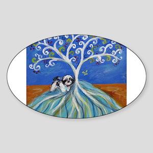 Shih Tzu spiritual love tree Sticker