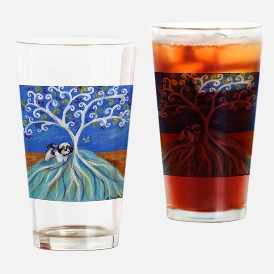 Shih Tzu spiritual love tree Drinking Glass