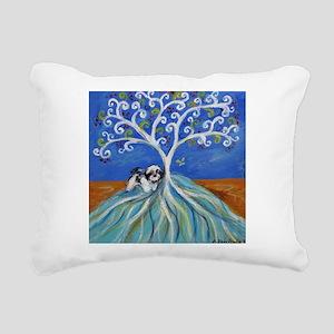Shih Tzu spiritual love tree Rectangular Canvas Pi