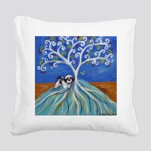 Shih Tzu spiritual love tree Square Canvas Pillow