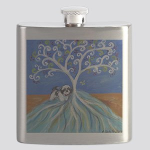 Shih Tzu spiritual love tree Flask