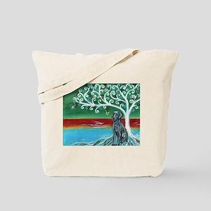Weimaraner Spritual Love Tree Tote Bag
