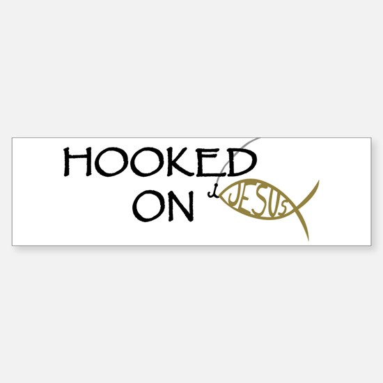 Hooked On Jesus Sticker (Bumper)