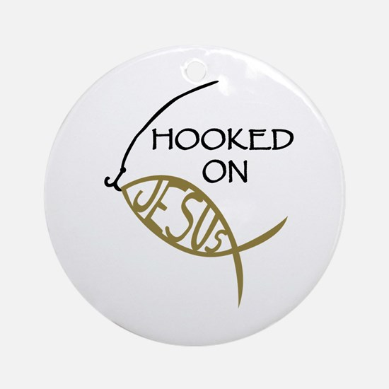 Hooked On Jesus Ornament (Round)