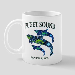 Puget Sound Orcas Mug