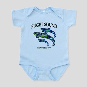 Puget Sound Orcas Body Suit