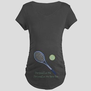 Personalized Tennis Maternity Dark T-Shirt
