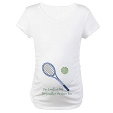 Personalized Tennis Maternity T-Shirt