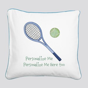 Personalized Tennis Square Canvas Pillow