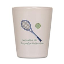 Personalized Tennis Shot Glass