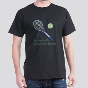 Personalized Tennis Dark T-Shirt