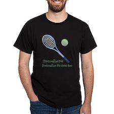 Personalized Tennis Dark T-Shirt