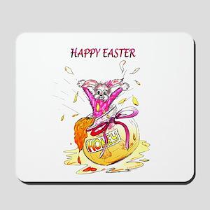 Honey Bunny Happy Easter Mousepad
