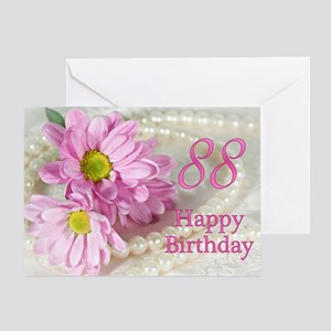 88th Birthday card with daisies Greeting Card