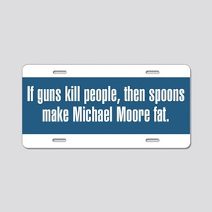 If Guns Kill People Aluminum License Plate